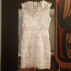 aff7a810f85 Milly Dresses - MILLY 3D Floral Embroidery Mari Mini White Dress